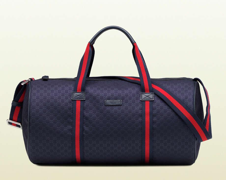 GucciFor carrying his workout clothes in style.  Nylon gym bag ($495) by Gucci, gucci.com Photo: Fabio Pianigiani, Esquire.com / Guccio Gucci s.p.a.