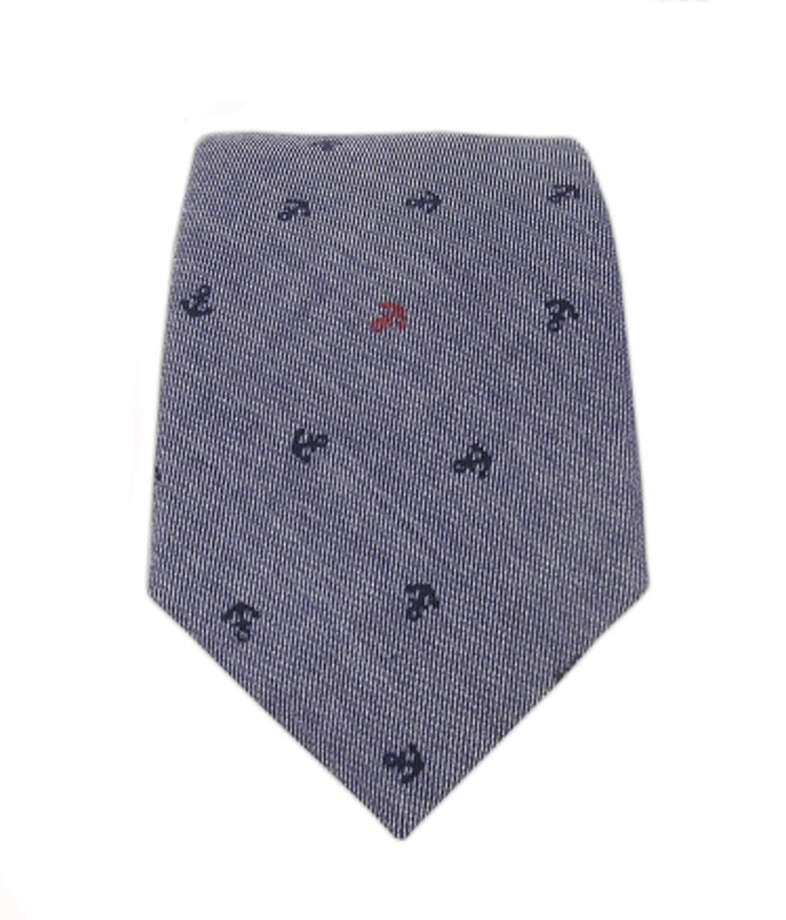 Tie BarBecause there's nothing wrong with getting him a tie — as long as it's the right tie.  Chambray anchor tie ($15) by The Tie Bar, thetiebar.com Photo: Esquire.com