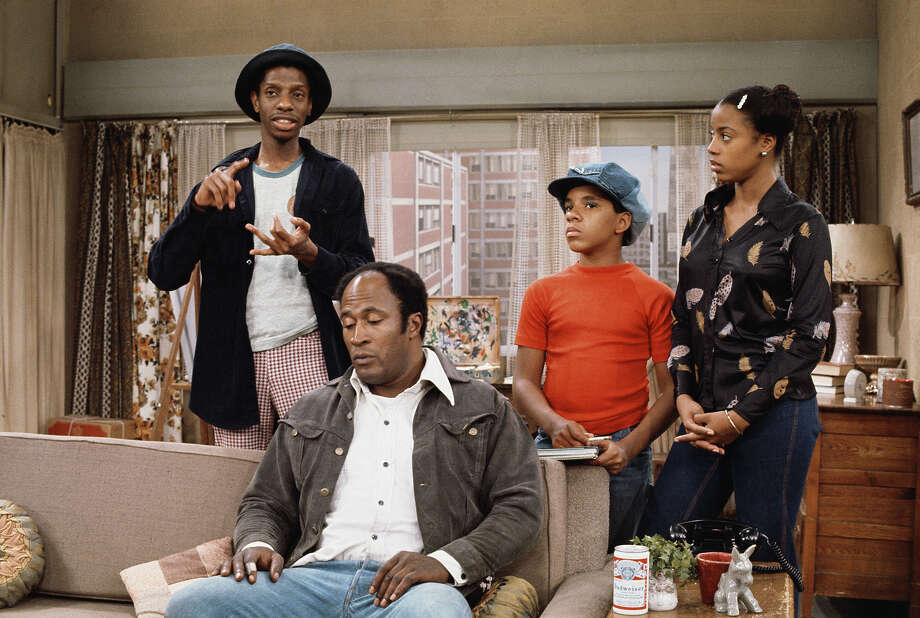 """Show:Good TimesDad: James Evans (John Amos)Fatherly advice: """"Junior, get your Mother a glass of water. Water? She aint drinkin' nothin' but the best from now on... Kool aid!"""" Photo: CBS Photo Archive, CBS Via Getty Images / 1975 CBS Photo Archive"""