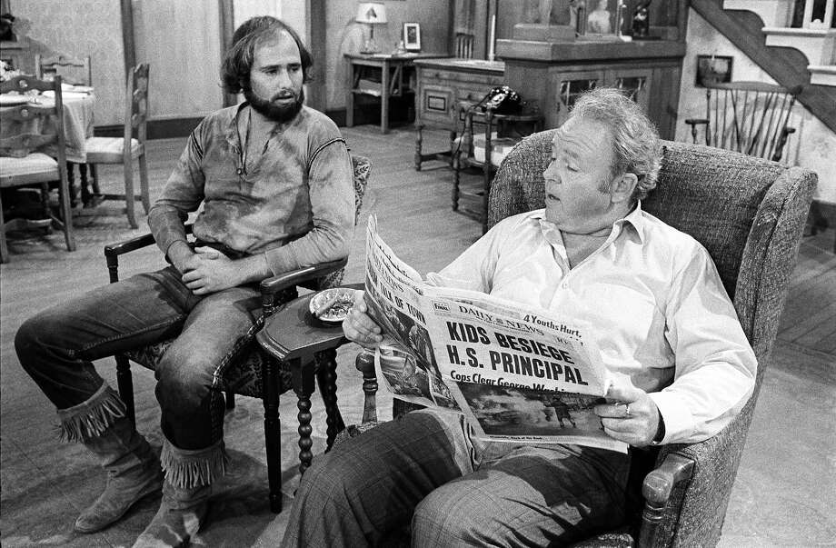 "Show:All in the FamilyDad: Archie Bunker (Caroll O'Conner)Fatherly advice: ""Whatever happened to the good old days when kids was scared to death of their parents?"" Photo: CBS Photo Archive, CBS Via Getty Images / 1971 CBS Photo Archive"