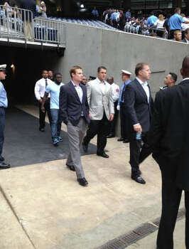 Texans players attend. Photo: Anita Hassan