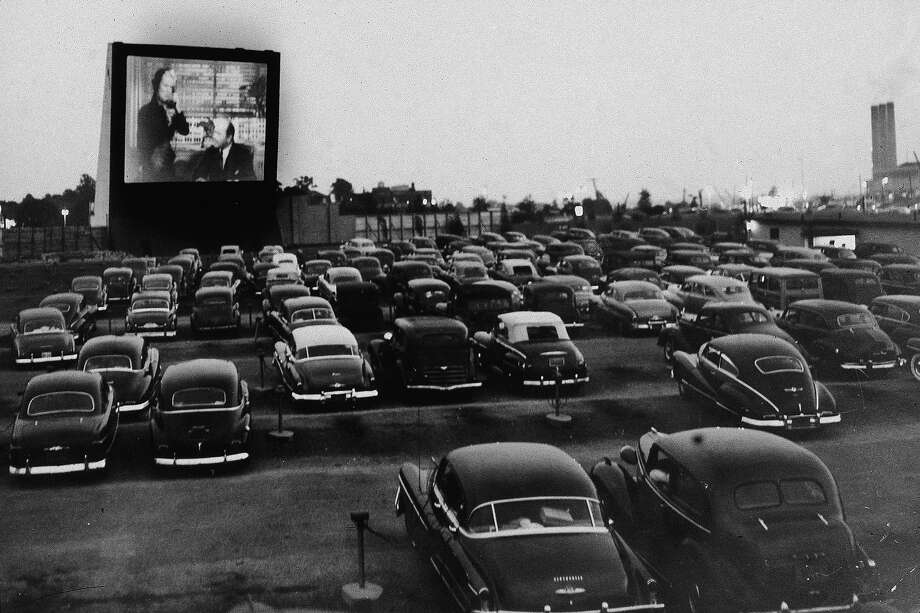 People watch an unidentified movie from inside their cars at the Whitestone Bridge Drive-in Movie Theater, the Bronx, New York, June 20, 1951. Photo: New York Times Co., Getty Images / 2004 Getty Images