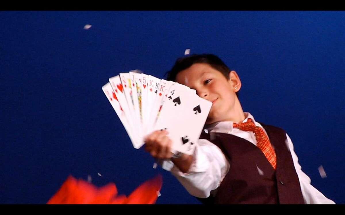 """Jonah Conlin performs in """"Magic Camp."""""""