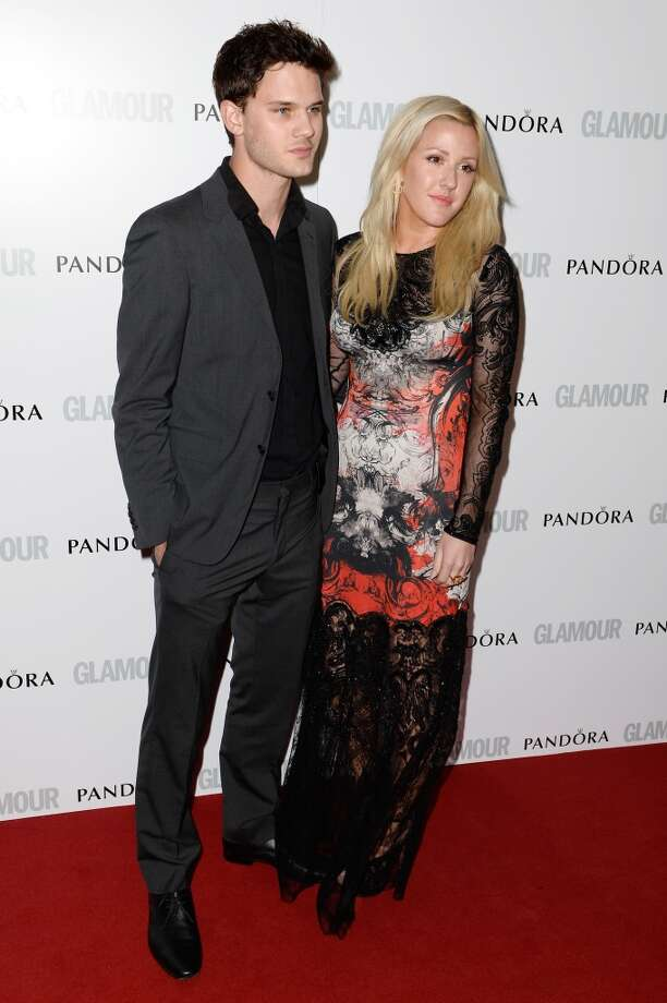 LONDON, ENGLAND - JUNE 04:  Jeremy Irvine and  Ellie Goulding attend Glamour Women of the Year Awards 2013 at Berkeley Square Gardens on June 4, 2013 in London, England.  (Photo by Gareth Cattermole/Getty Images)