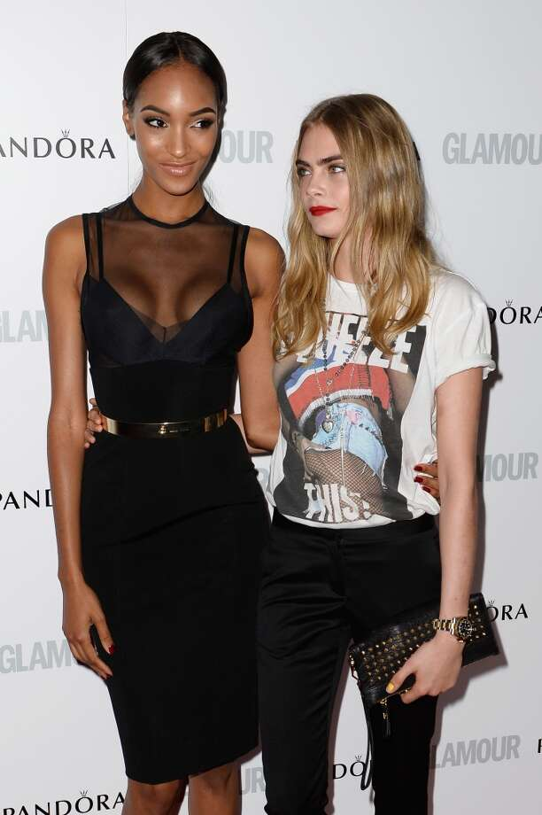 LONDON, ENGLAND - JUNE 04:  Jourdan Dunn and Cara Delevingne attend Glamour Women of the Year Awards 2013 at Berkeley Square Gardens on June 4, 2013 in London, England.  (Photo by Gareth Cattermole/Getty Images)