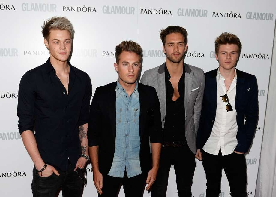 LONDON, ENGLAND - JUNE 04:  Ryan Fletcher, Adam Pitts, Andy Brown and Joel Peat of Lawson attends Glamour Women of the Year Awards 2013 at Berkeley Square Gardens on June 4, 2013 in London, England.  (Photo by Gareth Cattermole/Getty Images)