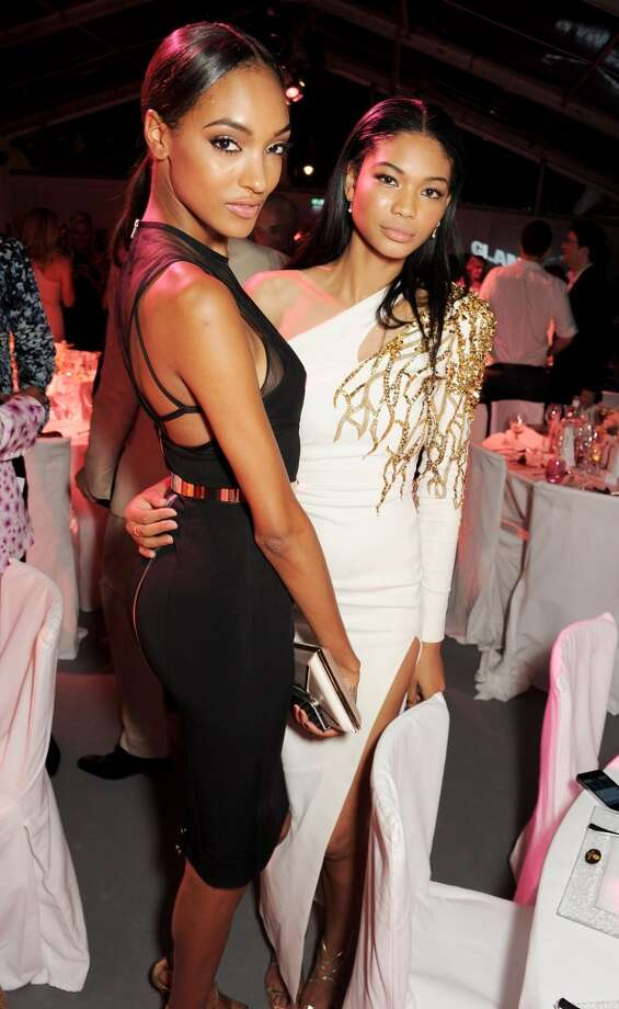 Jourdan Dunn (L) and Chanel Iman attend an after party following the Glamour Women of the Year Awards in association with Pandora at Berkeley Square Gardens on June 4, 2013 in London, England.  (Photo by Dave M. Benett/Getty Images for Pandora)