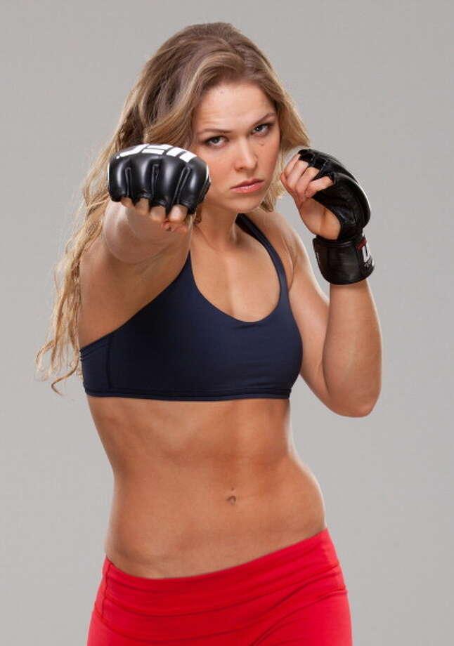UFC champ Ronda Rousey's combination of sexy and athletic may land her the Jean-Claude Gahd Dam award. Photo: Jim Kemper/Zuffa LLC, Zuffa LLC Via Getty Images / 2013 Jim Kemper/Zuffa LLC