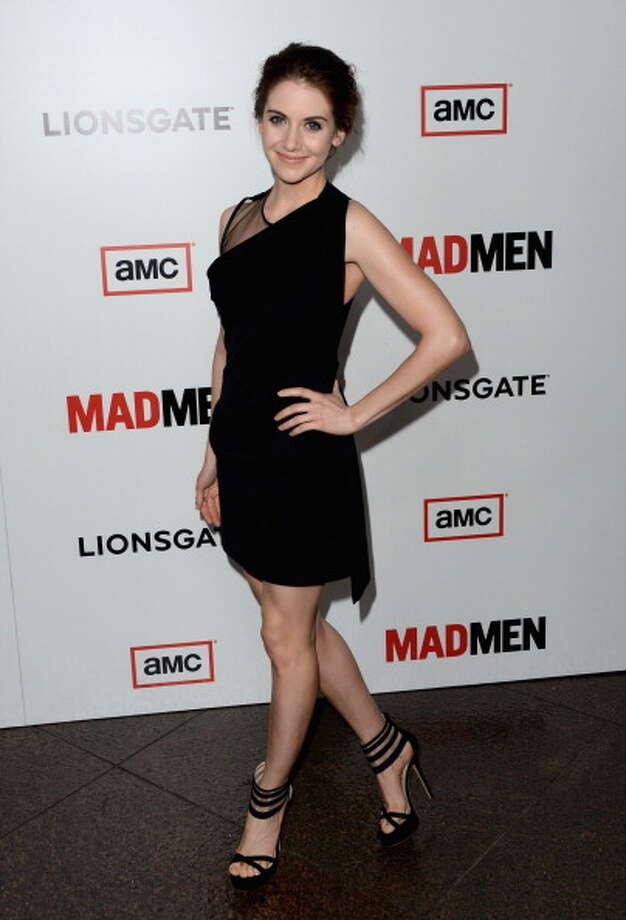 Mad Men's  Alison Brie will go against Allison Williams for Hottest Al(L)ison. Photo: Jason Merritt, Getty Images / 2013 Getty Images