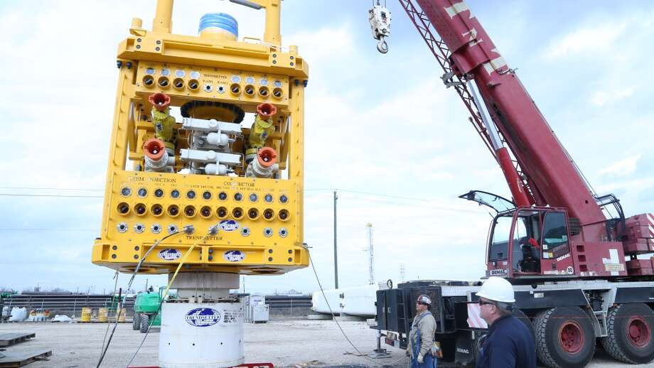MWCC's new 10k psi capping stack is transported to ASCO where it's stored for use in the deep-water U.S. Gulf of Mexico. The capping stack has a footprint of 9 ft. by 9 ft. and allows for easier use in close well conductor spacings. Photo: Marine Well Containment Company