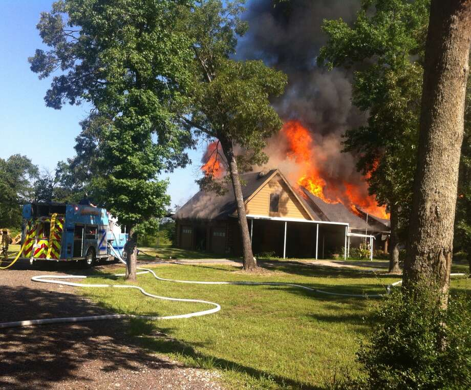 Flames engulf home on Thompson Road off FM 1097 in Willis Photo: North Montgomery County FD