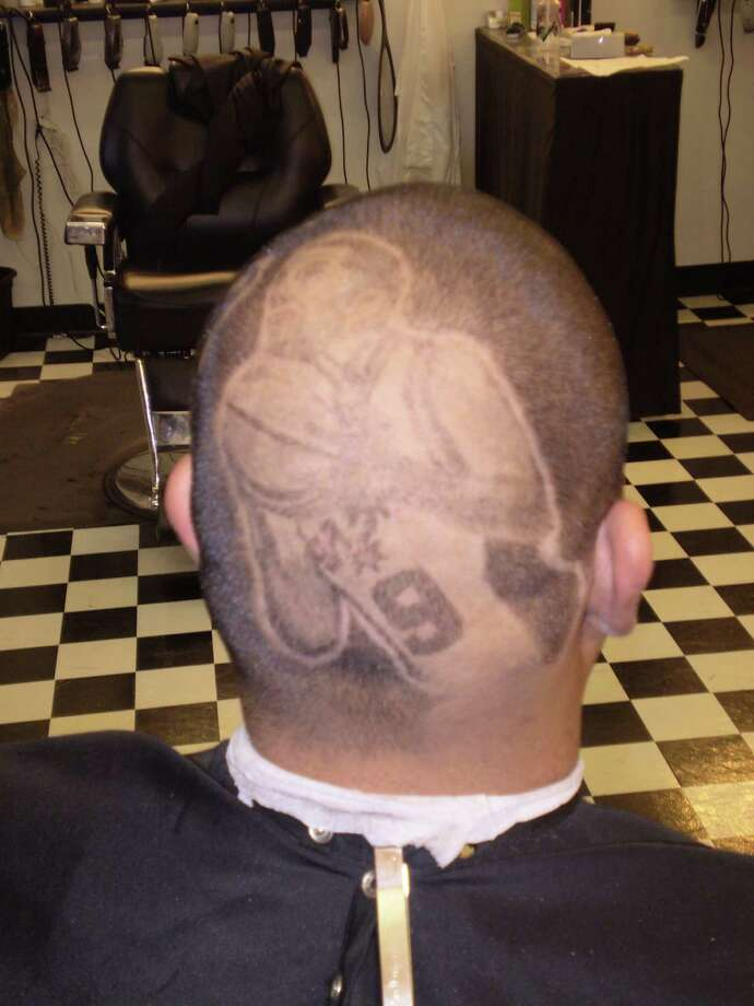 "Joe Da Barber's ""Tony Parker on my mind."" Photo: Courtesy"