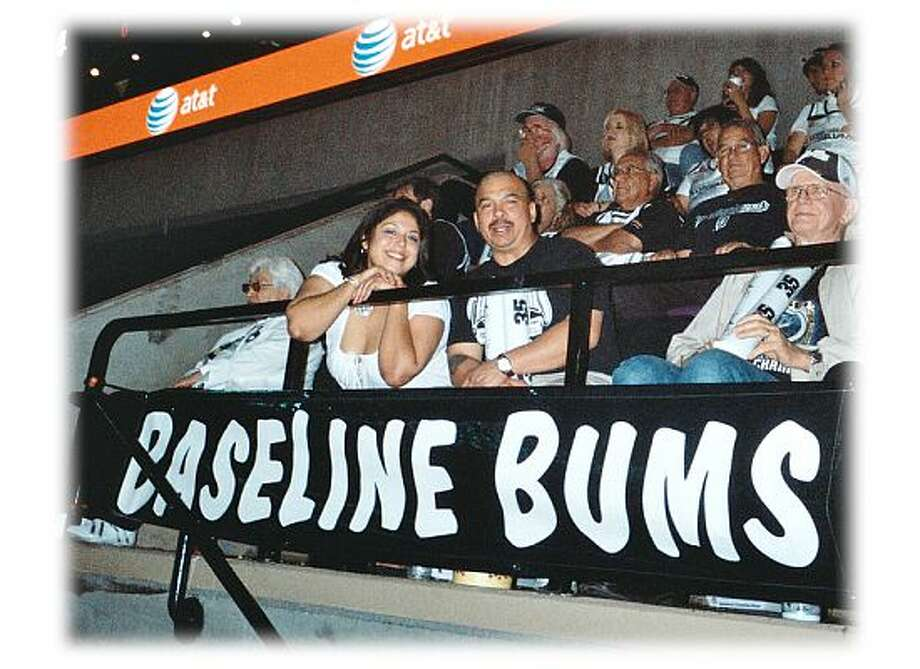 Baseline Bums!  Go Spurs Go! Photo: Courtesy