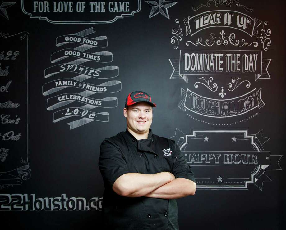 Kory Clemens, who previously worked at Taste of Texas and Ragin' Cajun, has opened the new full-service, family-friendly Katch 22 with Luke Mandola Jr. Photo: Michael Paulsen, Staff / © 2013 Houston Chronicle