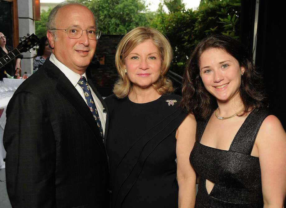 Mark Rauch, from left, honoree Patricia Rauch and Danielle Rauch Photo: Dave Rossman, Freelance / © 2013 Dave Rossman