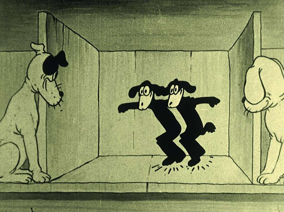 """A screen shot from the 1923 cartoon """"Happy-Go-Luckies."""" This is one of the long-lost films that are being resurrected by the San Francisco-based National Film Preservation Foundation. The films had been found in New Zealand."""