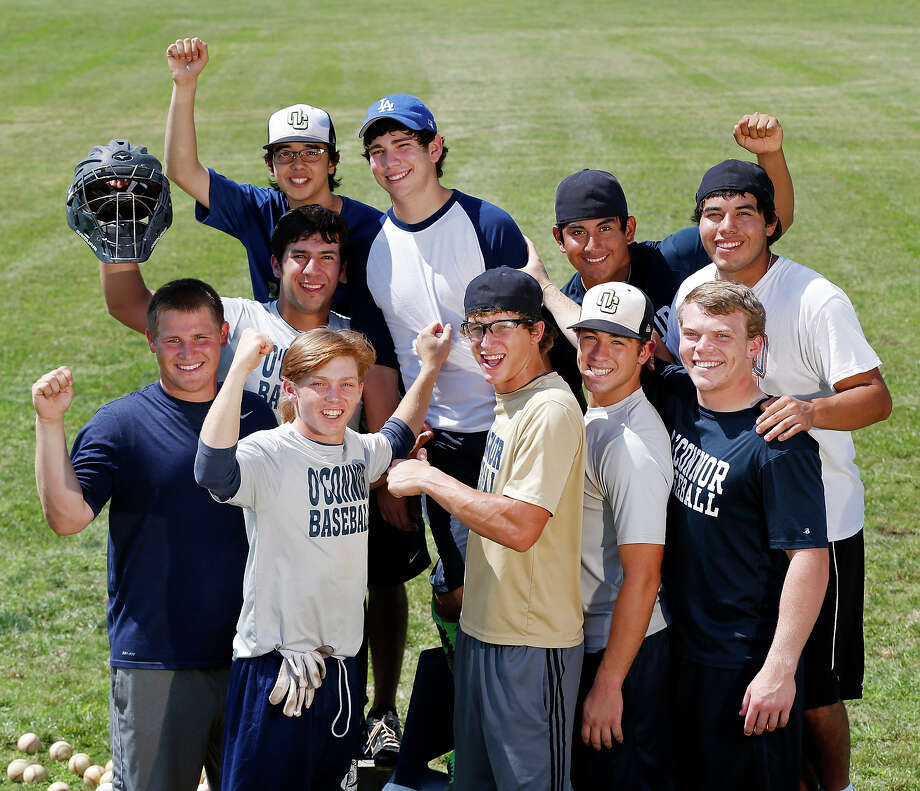 Portrait of O'Connor's Justin Garcia (back row), Dillon Stumpf, Mark Ecker, Jose Rodriguez, Daniel Cruz, Billy Craft (front row), Zachary Davenport, Zachary Galm, Gavin Johnson, and Kent Corso Monday June 4, 2013 at the school. Photo: Edward A. Ornelas, San Antonio Express-News / © 2013 San Antonio Express-News