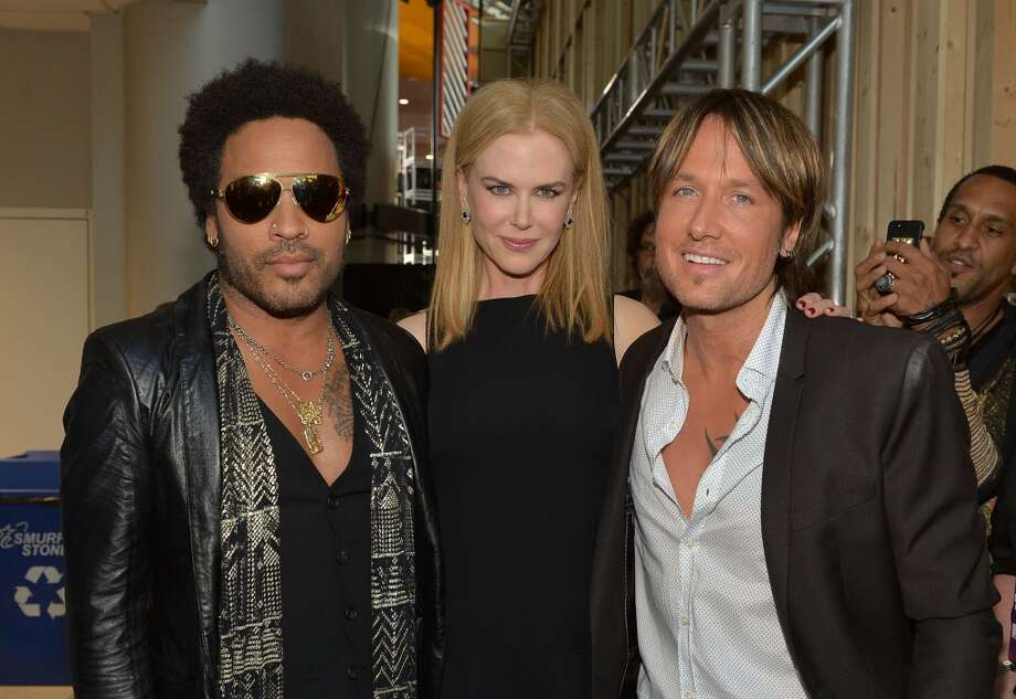 NASHVILLE, TN - JUNE 05:  (L-R) Lenny Kravitz, Nicole Kidman and Keith Urban attend the 2013 CMT Music awards at the Bridgestone Arena on June 5, 2013 in Nashville, Tennessee.  (Photo by Rick Diamond/Getty Images)