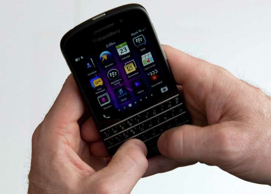 BlackBerry is counting on its new Q10. Models with physical keyboards are available in the U.S. Photo: Graeme Roy, STF / The Canadian Press