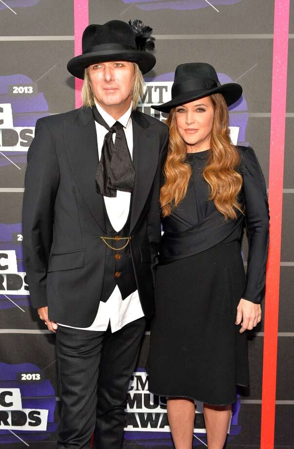 NASHVILLE, TN - JUNE 05:  Michael Lockwood and Lisa Marie Presley attend the 2013 CMT Music awards at the Bridgestone Arena on June 5, 2013 in Nashville, Tennessee.  (Photo by Rick Diamond/Getty Images)