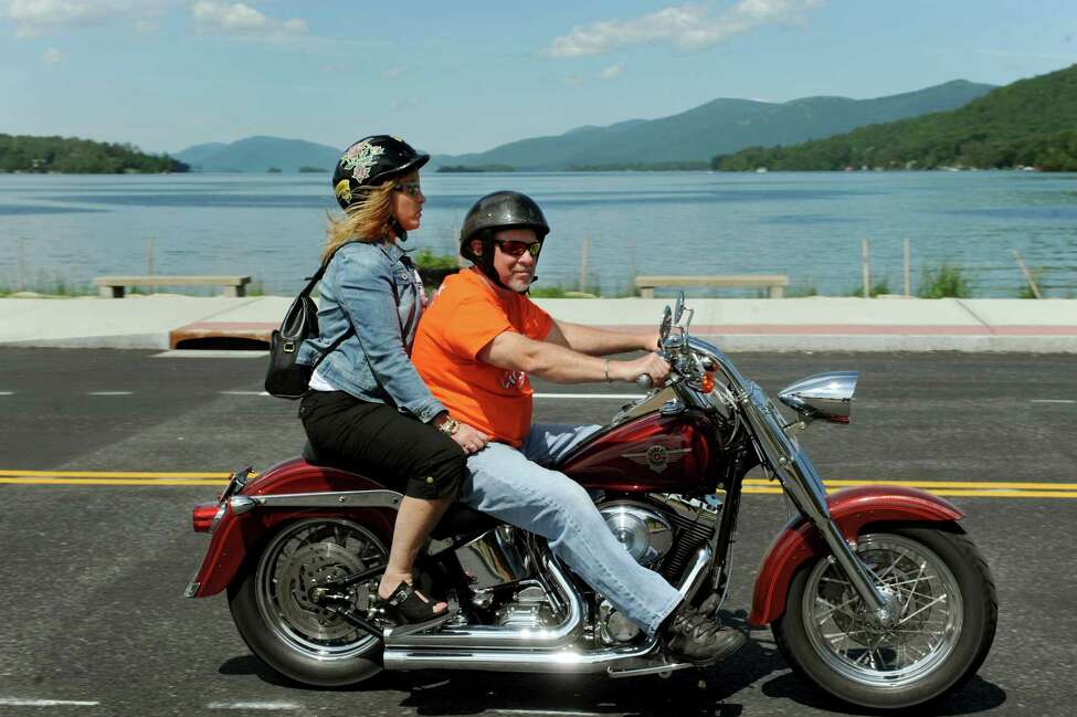 Motorcycle enthusiasts ride on Wednesday, June 5, 2013, in Lake George, N.Y. (Cindy Schultz / Times Union)