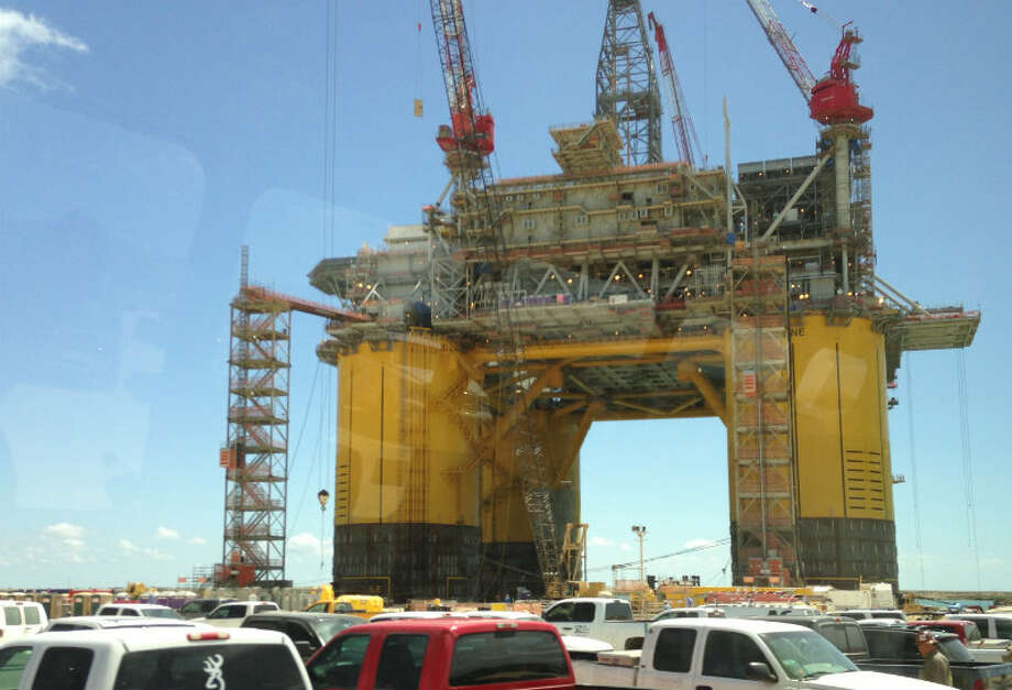 Shell says it has taken 14 million hours of work to build the Olympus. By the time it's complete, the entire project will have clocked 20 million hours. Photo: Emily Pickrell, Houston Chronicle