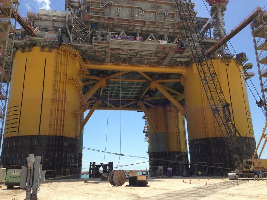 The Olympus will be Shell's sixth tension leg platform and its largest to date. Photo: Emily Pickrell, Houston Chronicle