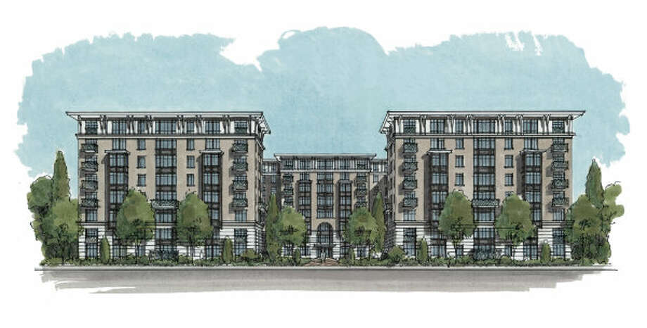 Finger Cos. plans to have this eight-story apartment complex at 1900 Yorktown completed by the end of the year. Photo: Handout Rendering