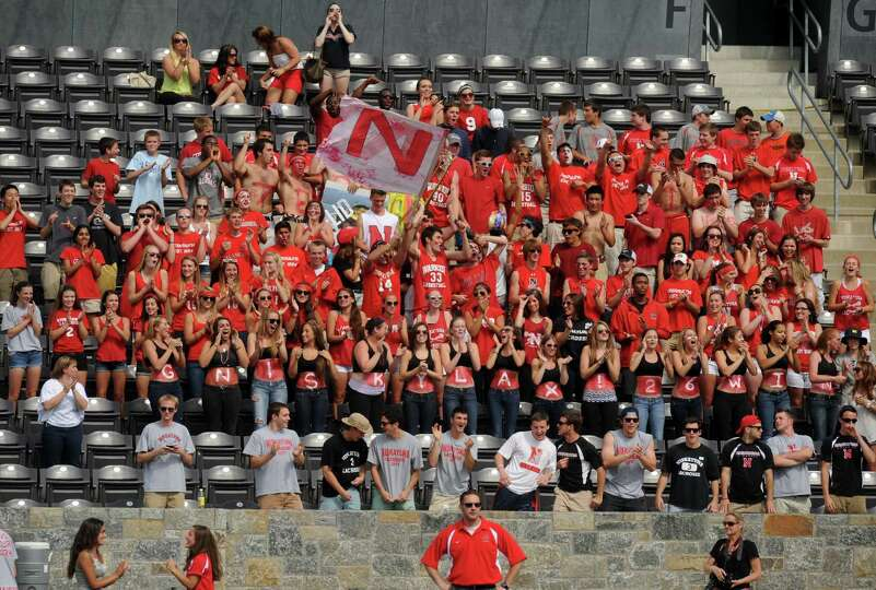 Niskayuna fans cheer on their team during a 10-9 loss to Garden City in the Class B boys' lacrosse s