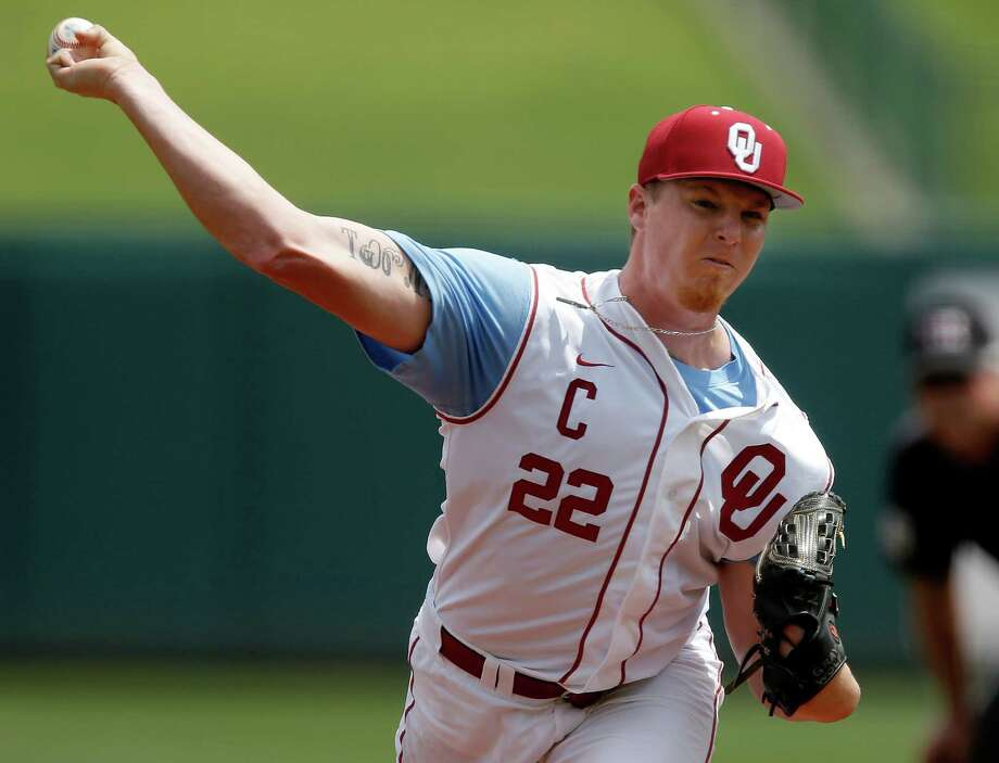 Jonathan Gray has compiled a 10-2 record and 1.59 ERA in 2013 in helping Oklahoma get to a super regional at LSU this weekend. The junior righthander has 138 strikeouts in 119 innings but also raised eyebrows with a positive test for the stimulant Adderall. Photo: Bryan Terry, MBI / The Oklahoman