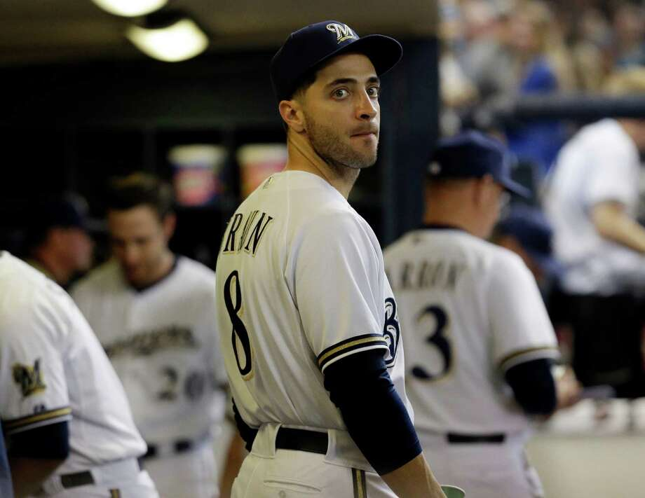 Ryan Braun, seen in the Brewers' dugout during Wednesday's 6-1 loss to the A's, says he'll have no more statements about being mentioned in Biogenesis records. Photo: Morry Gash, STF / AP