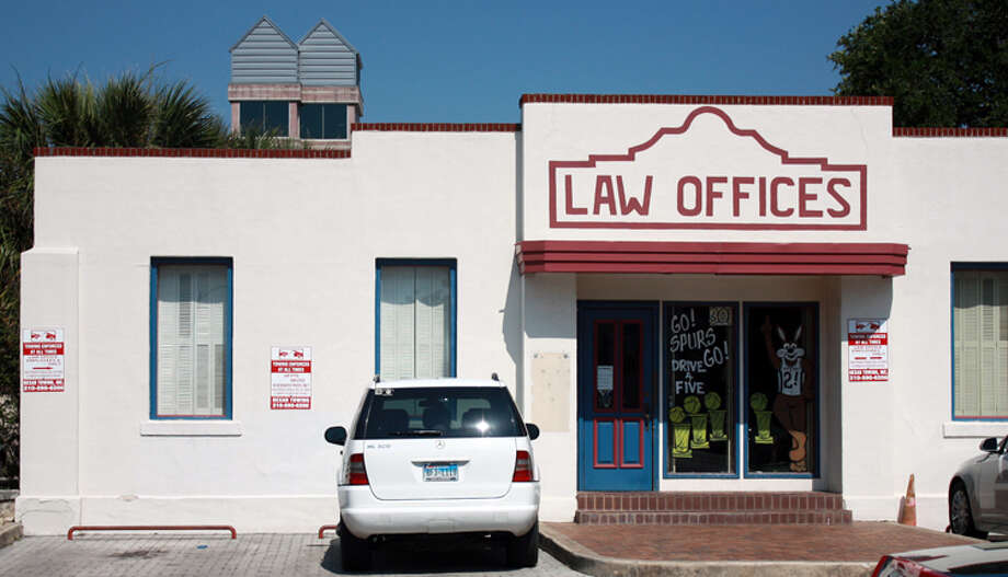 The Spurs Coyote is decorated on the front of law offices at located at the corner of South Main Ave. and East Nueva St.