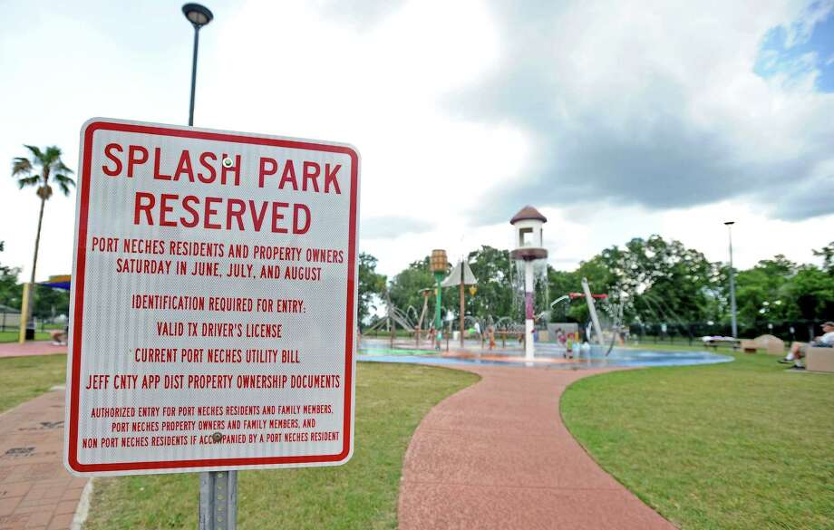 The Port Neches Spray Park has restricted its patronage last year to Port Neches residents only on Saturdays in June, July, and August. Photo taken: Randy Edwards/The Enterprise Photo: Randy Edwards