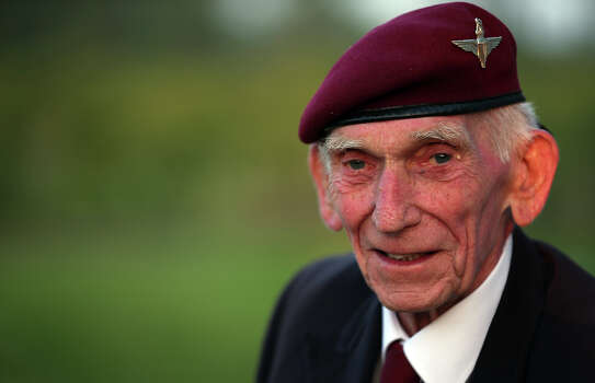 Normandy veteran Douglas Baines, 89, (who was a paratrooper dropped into Normandy in the early hours of D-Day) poses for a photograph as he visits the Pegasus Bridge Memorial Museum on June 5, 2013 near Caen, France. Across Normandy several hundred of the surviving veterans of the Normandy campaign are gathering to commemorate the 69th anniversary of the D-Day landings which eventually led to the Allied liberation of France in 1944. Next year, which will mark the 70th anniversary of the landings, is widely expected to be the last time that the veterans will gather in any great number. Photo: Matt Cardy, Getty Images / 2013 Getty Images