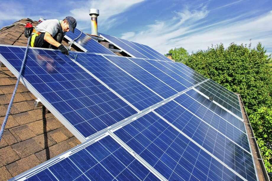 Installing solar panels may be tax-free. (Fotolia.com) Photo: Elena Elisseeva / Elenathewise - Fotolia