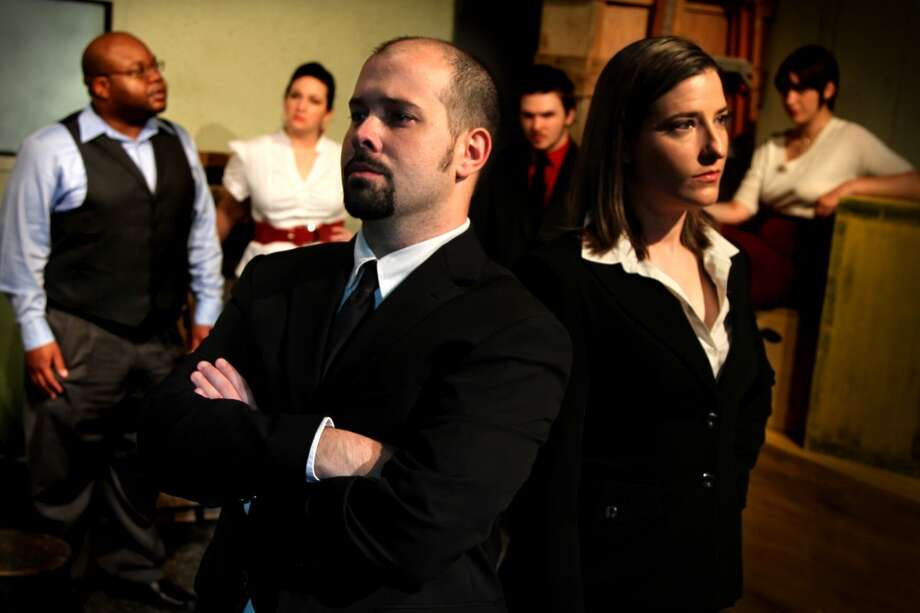 "The cast of the Overtime Theater's ""Port Cove"" features Chris Kelly and Vanessa Eichler (foreground), and Charles Riley (background, from left). Sarah Elise, Nate Bizzell and Sophia Bolles."