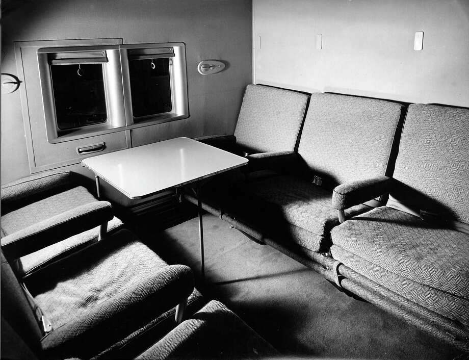 Inside, the clipper 74 seats that converted into 40 bunks and a dining salon that could be turned into a lounge Photo: Herbert Gehr, Time & Life Pictures/Getty Image / Herbert Gehr
