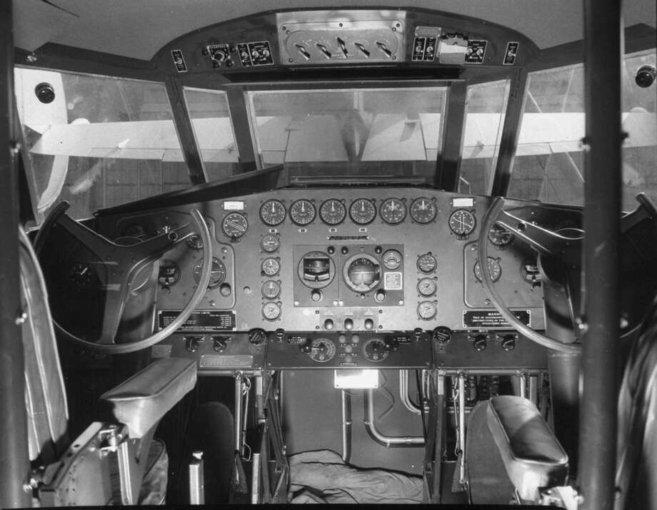 Here are the pilot and copilot's seats in the Clipper. Photo: J. R. Eyerman, Time & Life Pictures/Getty Image / Time Life Pictures