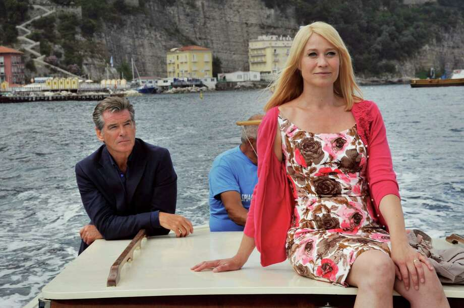 Left to Right: Pierce Brosnan as Philip and Trine Dyrholm as Ida in Love is All You Need Photo by Doane Gregory, Courtesy of Sony Pictures Classics