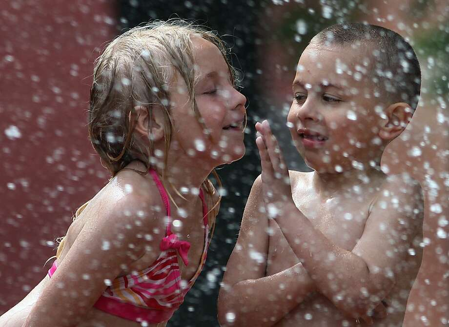 Sorry, but you're not my type: Aris Huerta, 6, spurns the advances of an older woman - 
