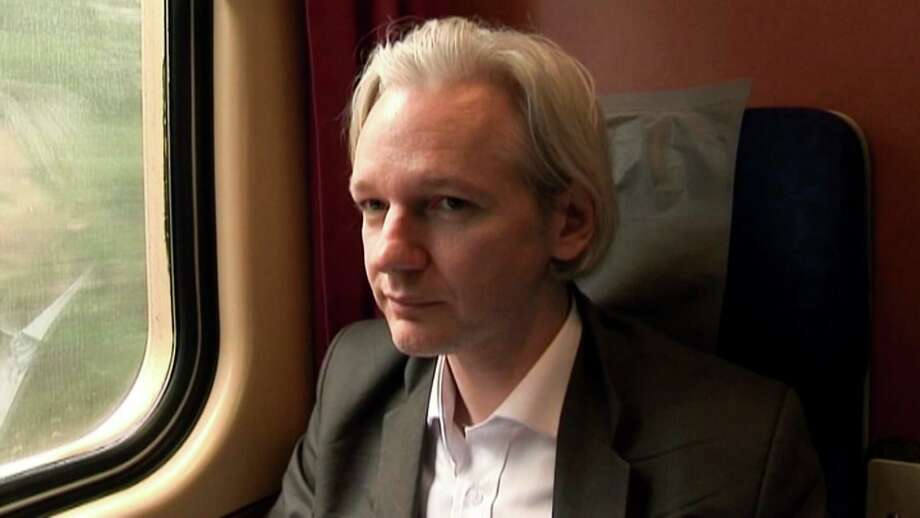 "This film publicity image released by Focus World shows Julian Assange in a scene from the documentary, ""We Steal Secrets:  The Story of WikiLeaks."" (AP Photo/Focus World) Photo: HOEP / Focus World"