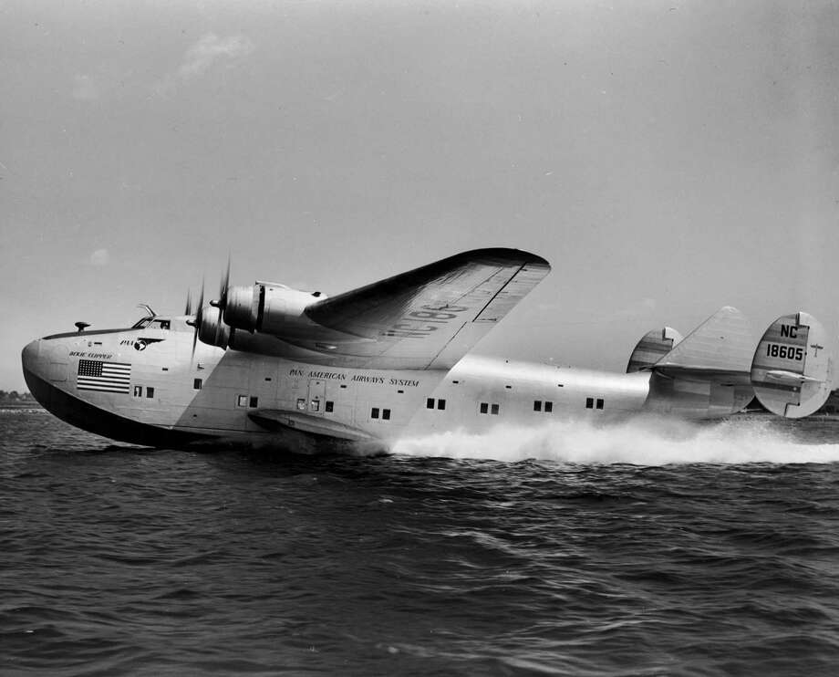 In 1943, the Dixie Clipper, shown here, flew President Franklin D. Roosevelt to 