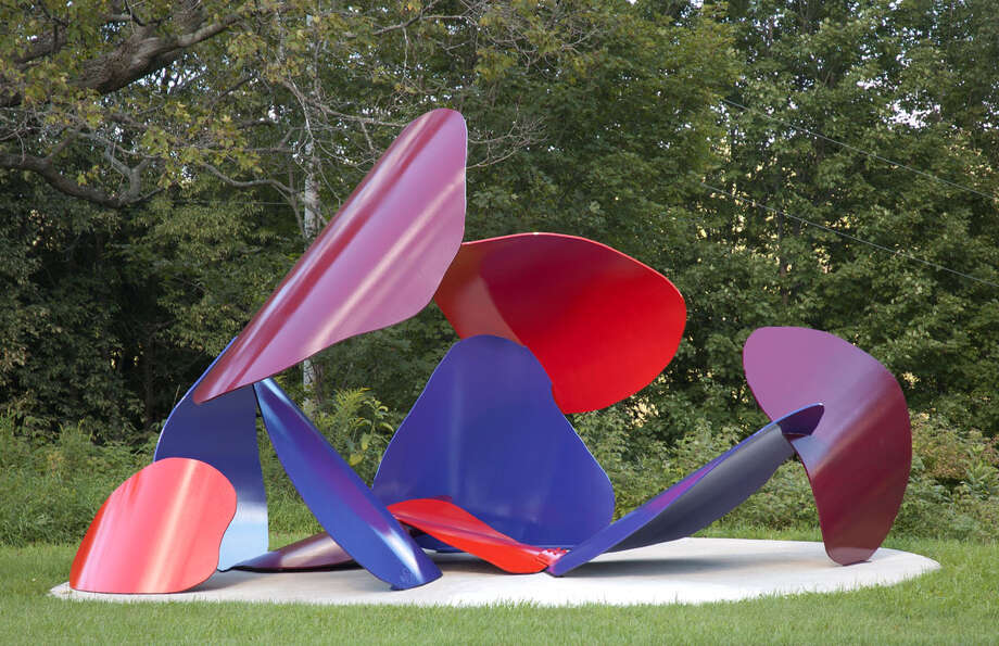 "David Stromeyer's ""Fugue"" is on view in ""Downtown Abstractions,"" an outdoor sculpture exhibition that is featured on Artwalk Stamford Downtown. Photo: Contributed Photo"