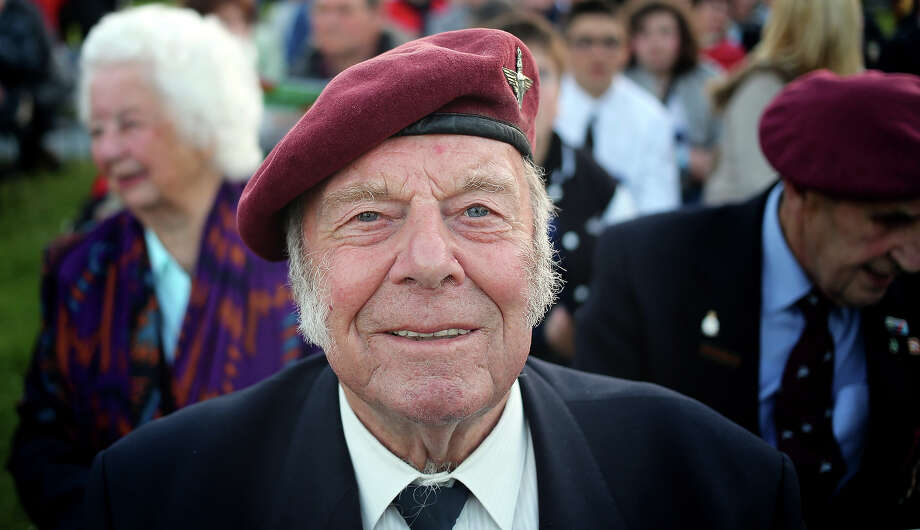 Normandy veteran, Ted Eaglen, 88, (who was a paratrooper dropped into Normandy in the early hours of D-Day) poses for a photograph as he visits the Pegasus Bridge Memorial Museum on June 5, 2013 near Caen, France. Across Normandy several hundred of the surviving veterans of the Normandy campaign are gathering to commemorate the 69th anniversary of the D-Day landings which eventually led to the Allied liberation of France in 1944. Next year, which will mark the 70th anniversary of the landings, is widely expected to be the last time that the veterans will gather in any great number. Photo: Matt Cardy, Getty Images / 2013 Getty Images