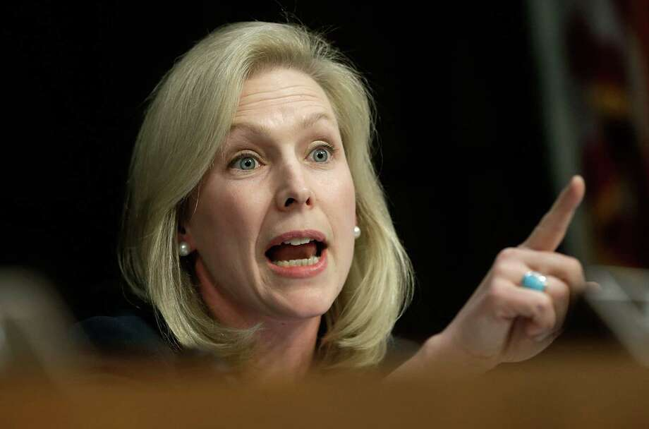 """Sen. Kirsten Gillibrand, D-N.Y., said some commanders can't tell the difference between """"a slap on the ass and a rape."""" Photo: Win McNamee, Getty Images"""