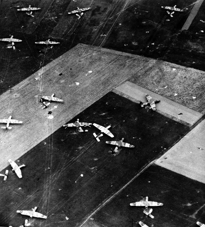 D-Day: Gliders used in the D-Day landings are pictured where they landed in France. Photo: Popperfoto, Popperfoto/Getty Images / Popperfoto