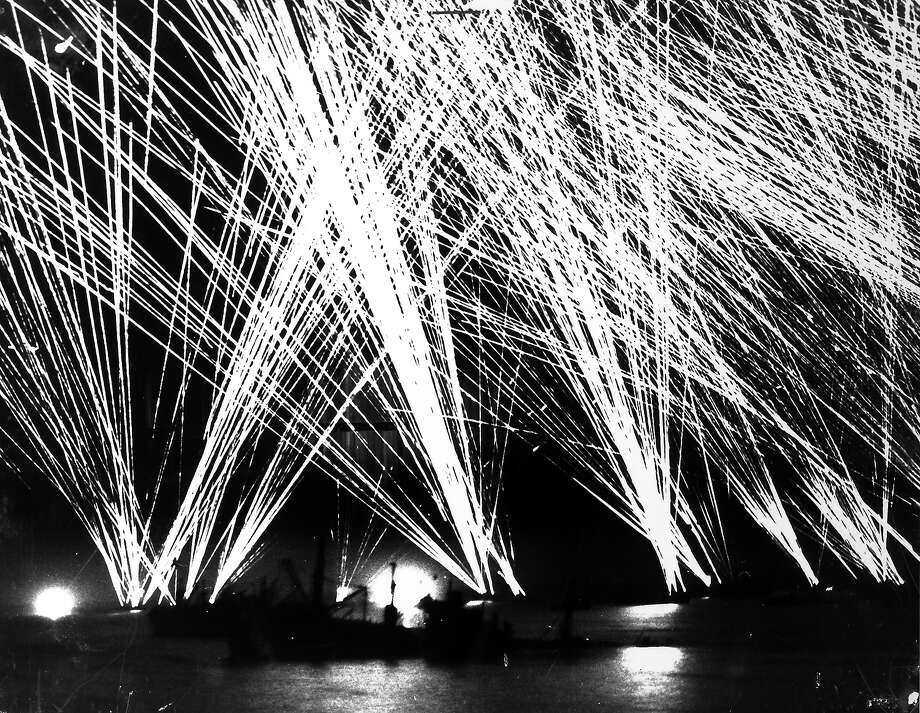 D-Day: Tracer fire from many different ships lighting up the night sky over the English Channel during opening phase of D-Day, the Allied invasion of France. Photo: Time Life Pictures, Time & Life Pictures/Getty Image / Time Life Pictures