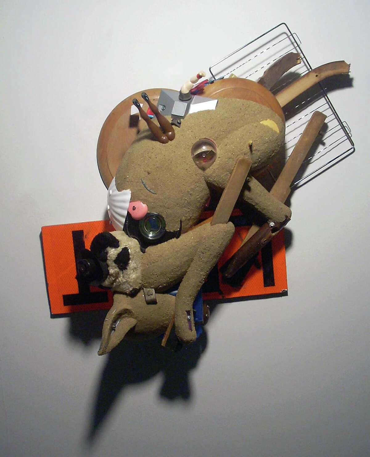 """D. Dominick Lombardi's """"dog piece"""" is about a night's sleep ruined by information overload. It's on view at Housatonic Museum of Art in Bridgeport."""