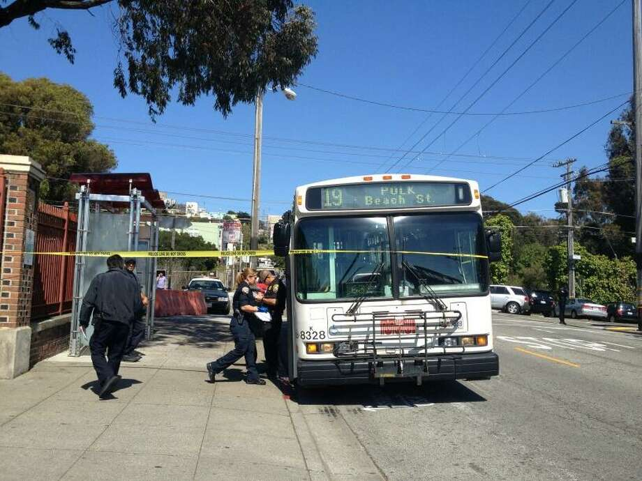 A man who was shot on a Muni bus was taken to the hospital on Thursday, June 6, 2013, in San Francisco.