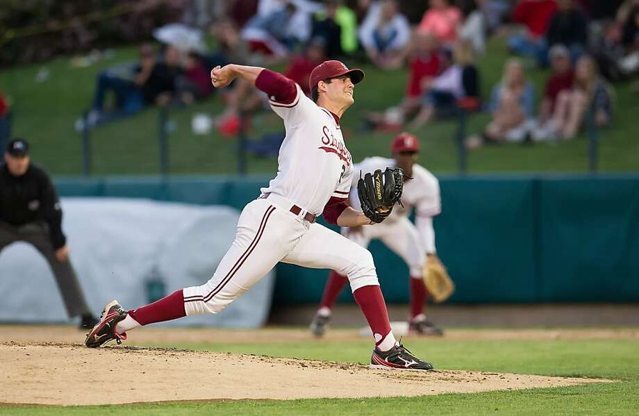 Mark Appel leaves Stanford as its all-time strikeout leader (372). He threw four complete games this year, walking just 23 batters in 1061/3 innings pitched. Photo: David Bernal, Stanfordphoto.com